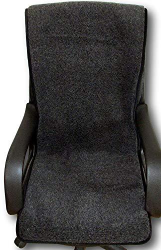 Sesselschoner anthrazit 100% Merinowolle 50x200cm, Sitzauflage, Sesselüberwurf, Überwurf, Sesselauflage