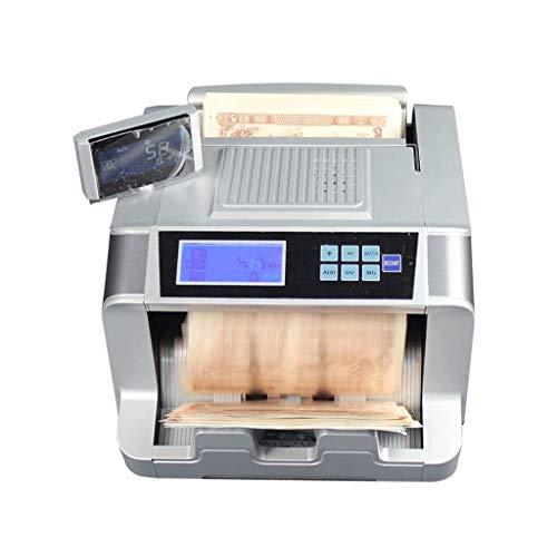 ASJJ Contabanconote contraffazione rilevatore Automatico Macchina contasoldi Detector Cash conteggio Veloce con UV/MG contraffazione Bill rilevamento Display a LED per USD Euro Pound CNY HKD