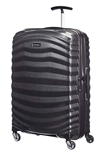Samsonite Lite-Shock Spinner M Valigia, 69 cm, 73 L, Nero (Black)