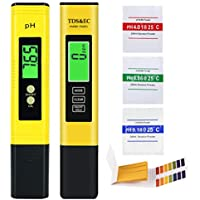 SPECOOL Medidor PH, Medidor de PH TDS EC Temperatura 4 en 1 Digital con Pantalla LCD Resolución 0.01 Calibración Automática para Acuario, Piscina de Agua Hidropónica, Laboratorio