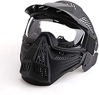 Anyoupin Paintball Mask, Airsoft Mask Full Face with Goggles Impact Resistant for Airsoft BB Hunting CS Game Paintball and Other Outdoor Activities