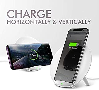 SEEGLOW Wireless Charger Qi-Certified 7.5W Wireless Charging Compatible with iPhone X MAX/XR/XS/X/8/8 Plus,10W Compatible Galaxy S10。Note 9/S9/S9 Plus/Note 8,5W All Qi-Enabled Phones(No AC Adapter/