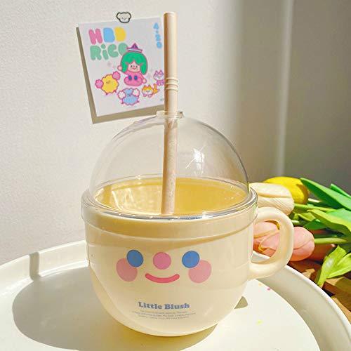CXL Creative Sippy Cup Carry Cup, Taza de plástico, Linda Personalidad Taza de Agua Desayuno Taza de Leche