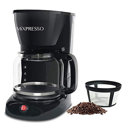 12-Cup Drip Coffee Maker, Coffee Pot Machine Including Reusable And Removable Coffee Filter, The Best Coffee Maker Filterless - By Mixpresso