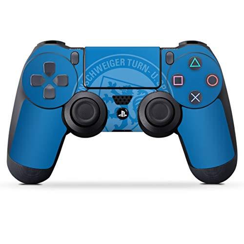 DeinDesign Skin kompatibel mit Sony Playstation 4 PS4 Controller Folie Sticker Eintracht Braunschweig Offizielles Lizenzprodukt Statement