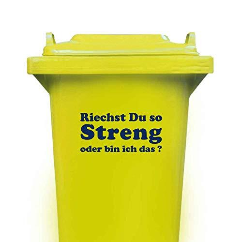 Domus House Signs Mülltonnen Aufkleber: 'Riechst Du so STRENG oder Bin ich das ?' zum Dekorieren Ihrer Mülltonne oder Anderen glatten Oberfläche, Schriftfarbe:dunkelblau