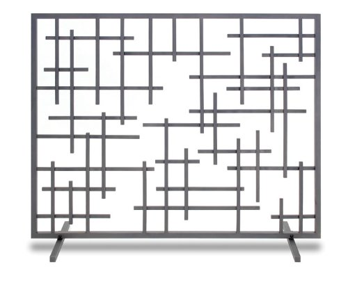"""Pilgrim, Natural Iron Home and Hearth 18268 Contemporary Summer Fireplace Screen, 39""""W x 31""""H, 19 Lbs"""