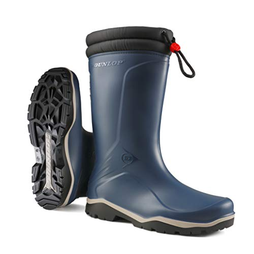 Dunlop K454061 - Botas de goma forradas, Hombre, Azul/Negro, 42