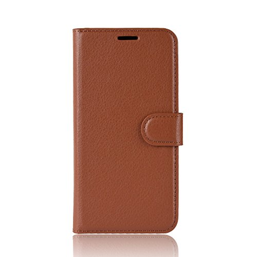 DAMAIJIA für Alcatel 1 Hüllen Klapphülle PU Leder Silikon Wallet Schutzhülle Schutz Mobiltelefon Flip Back Cover für Alcatel1 Tasche 5033D 5033 D 5033Y 5033X Handy Zubehör (Brown)