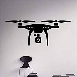 ggeion Wall Sticker Lettering Quotes and Saying Real Air Drone Quadcopter Aircraft Home Art Decor Ideas Interior Kids Room
