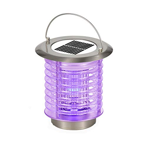 FILOL Portable Bug Zapper Solar Powered Mosquito Trap Killer Electric UV LED Light, Anti-Mosquito Lamp Waterproof Charging Mosquito Ant Fly Bug Pest Control Insect Repellent