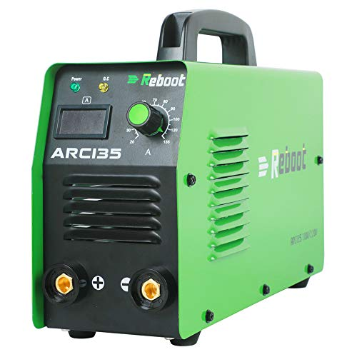 ARC Welder Dual Voltage Mini - Reboot ARC135 Portable Stick Welder 110V/220V High Frequency Duty Cycle IGBT Inverter Digital Display Welding for 1/16-1/8in Electrodes Beginner Welding