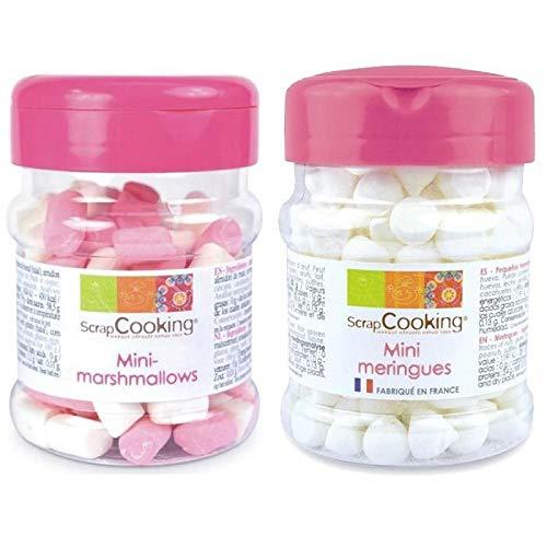 Mini meringues and mini marshmallows