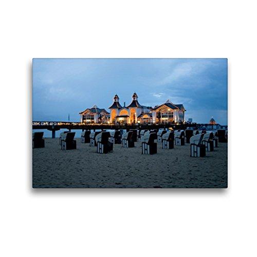 Premium Textil-Leinwand 45 x 30 cm Quer-Format Seebrücke Sellin | Wandbild, HD-Bild auf Keilrahmen, Fertigbild auf hochwertigem Vlies, Leinwanddruck von Steffen Gierok
