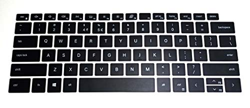 US Layout Keyboard Protector Cover Skin Compatible with Dell XPS 13-9300 13-9310 with BingoBuy Card Case (Black)