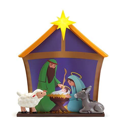 Mr. Christmas Blow Mold Village-Nativity Christmas Décor, 3-feet, Purple
