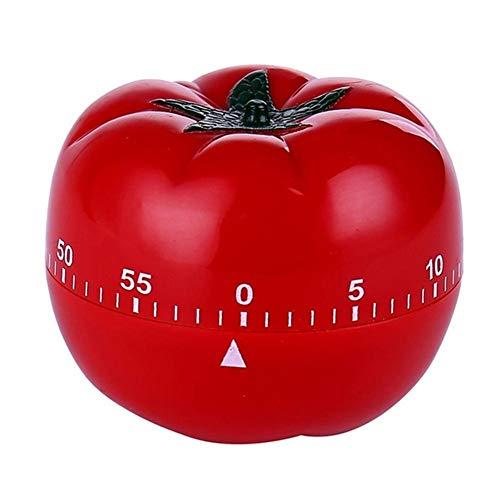 QWER Tomato mechanische Küche Timer Spiel Count Down Zähler Alarm Kochen Werkzeug 60 Minuten temporizador Zeitzähler Minuterie Timer,Red,1pc