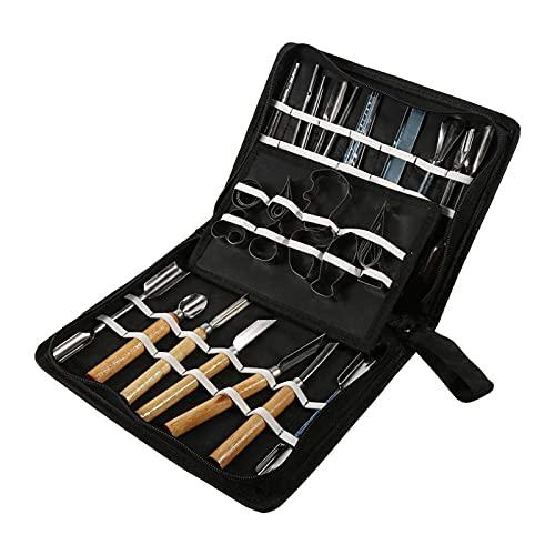 Kit de herramientas para tallar, 1 juego de 46 Uds, Kit de herramientas para tallar, cincel para alimentos, frutas y verduras, productos de corte de cocina