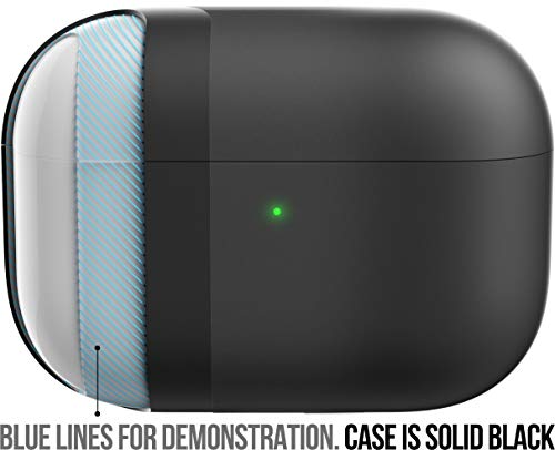 KeyBudz Hybrid Shell Hard Case Cover for Apple AirPods Pro (Black)