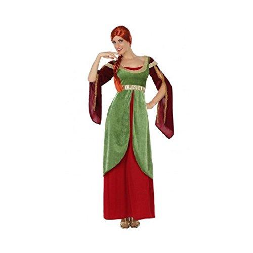 ATOSA-38642 Costume da Donna Medievale, Multicolore, XL, 38642