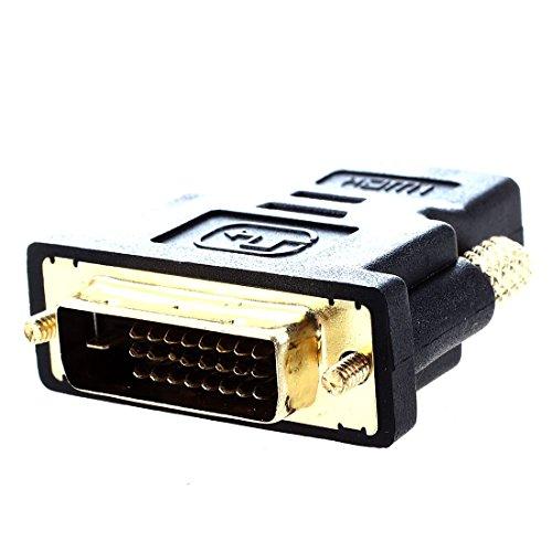 Andifany Adaptador de Conversion DVI a HDMI HDMI: Hembra DVI 24 Pines: Macho