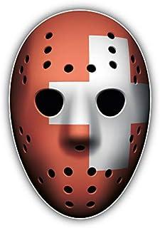 Magnet Switzerland Flag Ice Hockey Goalie Mask Vinyl Magnet Bumper Sticker Magnet Flexible Vinyl Magnetic 5