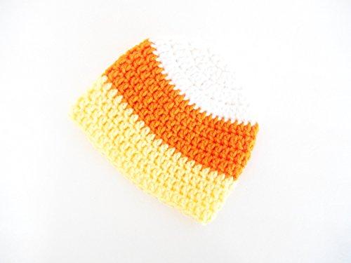 Crochet Baby Hat, Halloween Costume for Babies, Candy Corn Photo Prop for Newborns, 3-6 months