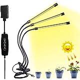 Luz Planta de Interior con Temporizador, Full Spectrum llevados Crecen Ligeros for Las Plantas en Maceta, 5 Nivel de atenuación y 3 Modos de iluminación, 3/6 / 12H Timing LED Planta Crecer Lámparas