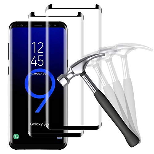 NUOCHENG Panzerglas Schutzfolie für Samsung Galaxy S9 Plus/S9+, [2 Stück] Frei von Kratzern Fingabdrücken Glass, [9H Härte] [HD Displayschutzfolie] Panzerglasfolie für Samsung S9 Plus/S9+