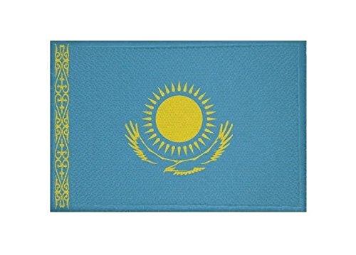 U24 Aufnäher Kasachstan Fahne Flagge Aufbügler Patch 9 x 6 cm