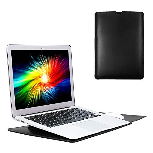 Soyan 13-Inch Laptop Sleeve with Stand Function, Compatible with 13 Inches MacBook Pro (2012-2015) and 13 Inches MacBook Air (2011-2017) (Black)