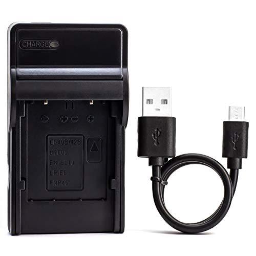 EN-EL10 USB Ladegerät für Nikon Coolpix S200, S203, S210, S220, S230, S3000, S4000, S500, S510, S5100, S520, S570, S60, S600, S700, S80 Kamera und Mehr