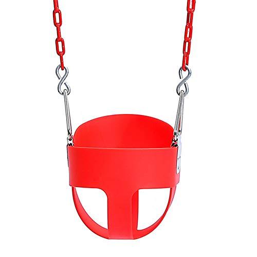 QINYUP EVA Cubo Cubo con Swing Cadena del Columpio Infantil Interior y Exterior del bebé,Rojo