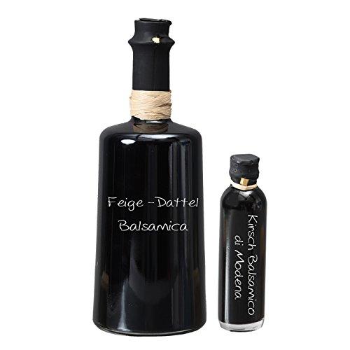 Wajos Feige-Dattel Crema Balsamica NUR SANFTE 3 % Säure! 0,5l I Sparset GRATIS dazu Oliv & Co. Kirsch Balsamico di Modena 40ml