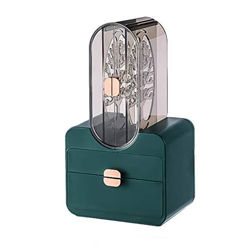 lefeindgdi Joyero organizador de almacenamiento de joyas de gran capacidad para almacenar almacenamiento para collares, pendientes, pulseras, anillos, relojes