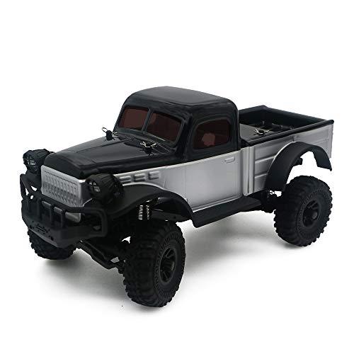 Panda Hobby K1 4WD rc crwaler Sport Tetra Professionsl 1 18 RTR Scale Rc Car 4x4 Rock Crawler 4wd Off-Road Vehicle(Black)