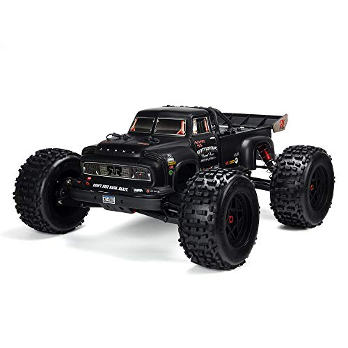 ARRMA 1/8 Notorious 6S V5 4WD BLX Stunt RC Truck with Spektrum Firma RTR (Transmitter and Receiver Included, Batteries and Charger Required), Black, ARA8611V5T1