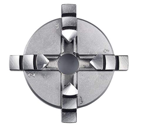 Proxxon 24158 4-Backen-Drehfutter (zentrisch spannend für Feindrehmaschine FD 150/E, Spannbereich Umkehrbacken innen 1-20 mm, außen 20-50 mm)