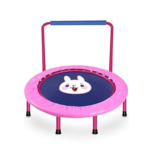 LBWT Vrije tijd Bounce Bed - Fitness Trampolines Gewichtsverlies Release Druk Trampoline Met U Handrail Child Cartoon Trampoline Tool-free Installatie Buiten Binnen 40 Inches