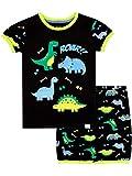 Harry Bear Pijama Corta para niños Dinosaurio Negro 6-7 Años