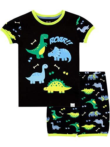 Harry Bear Pijama Corta para niños Dinosaurio Negro 4-5 Años