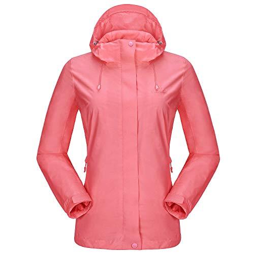 CAMEL CROWN Womens Rain Jacket Waterproof Coat