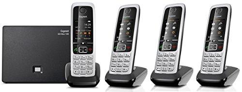 Gigaset C430A GO QUATTRO Set mit 4 Mobilteilen, Hybrid-Dect-Schnurlostelefon (analog und VoIP (ALL-IP) mit Anrufbeantworter)