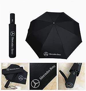 monochef Auto Sport AUTO Open Large Folding Umbrella Windproof Sunshade with Car Logo Fit Benz