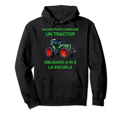 Tractor Granjero Agricultor Agricultura Escuela Niños Regalo Sudadera con Capucha