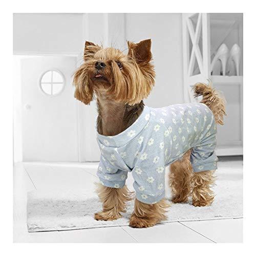 YUELANG Hundebekleidung Mops Französische Bulldogge Kleiner Hund Katze Kleidung Chihuahua Yorkshire Haustierkleidung Schlafanzug Overall Für Kleine Hunde Katzen Welpen (Color : Blue, Size : XXL)