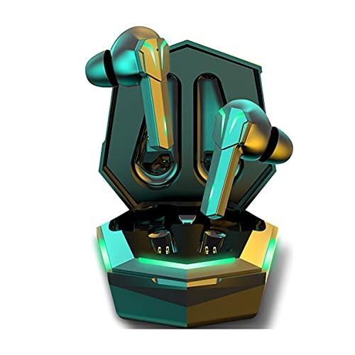 CloverGorge Auriculares inalámbricos para Juegos de Modo Dual TS32 Decodificación Dual sin retardo inductivo Auriculares Impermeables Dos Modos de Canciones de Juegos
