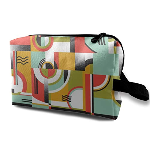 Bauhaus_8033 Kulturbeutel Kosmetiktasche Tragbare Make-up Tasche Reise Hängende Organizer Tasche für Frauen Mädchen 25,4 x 12,7 x 15,7 cm
