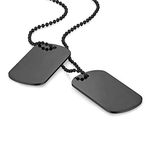 Flongo Placa de Colgante grabada Placa Militar Acero