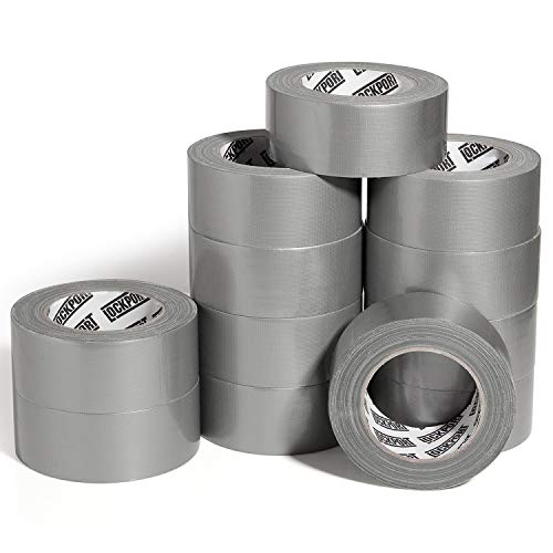 Silver Duct Tape - 12 Roll Multi Pack - 30 Yards x 2 Inch - Strong, Flexible, Waterproof and Tear by Hand - Bulk Value for Home Use, Do-It-Yourself Projects and Repairs